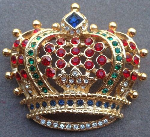 Collectible vintage brooch Crown from the company KJL