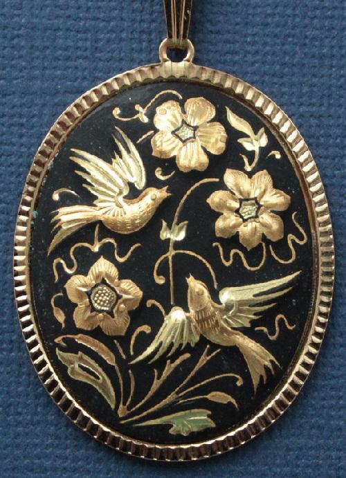 Birds of Paradise. Damascene jewellery art