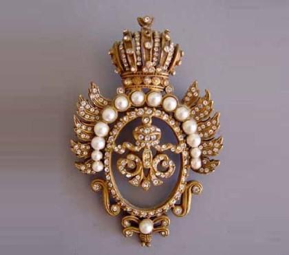 Heraldic Vintage brooch