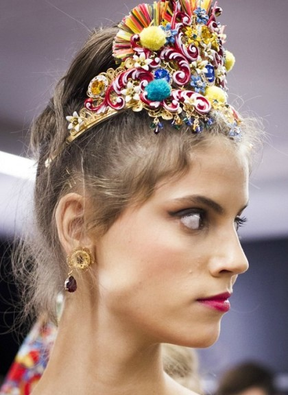 Dolce Gabbana 2016 head accessories
