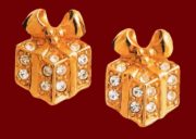 Gifts for Christmas earrings. Rock crystal, metal, gilding. The 1990s. £ 15-20 MILB
