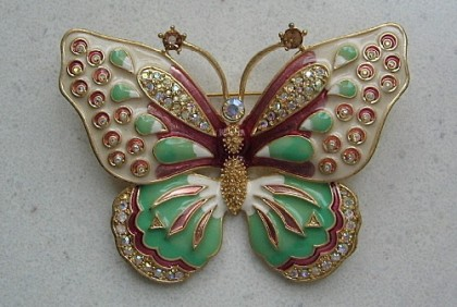 Exquisite Butterfly Brooch by KJL