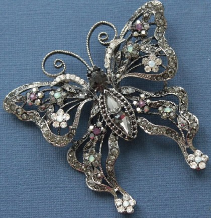 Vintage KJL Butterfly Brooch