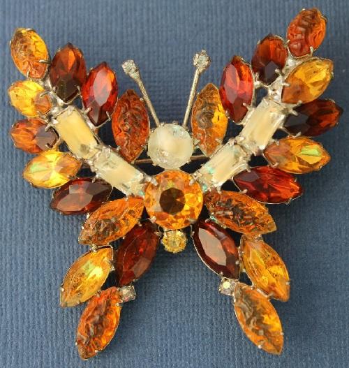 KJL Butterfly Vintage Brooch