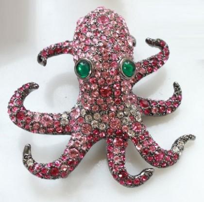 'Octopus' KJL Rare Vintage Brooch