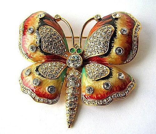 Wonderful Butterfly Brooch, KJL Vintage