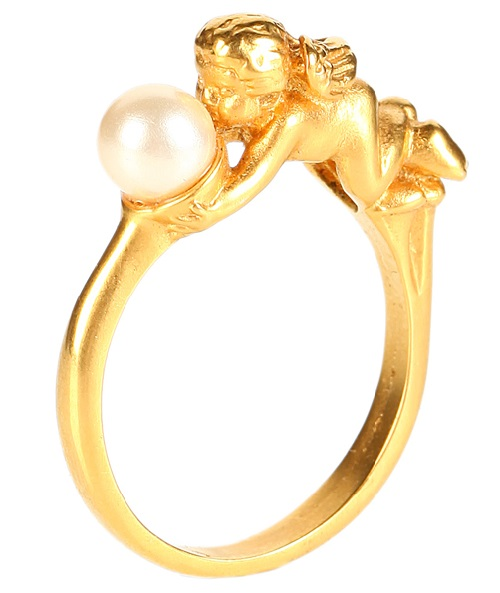 Ring with Cupid by Avon