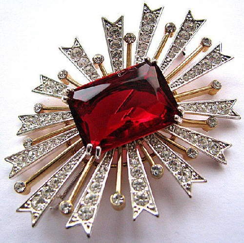 Stunning vintage brooch Star from the company KJL