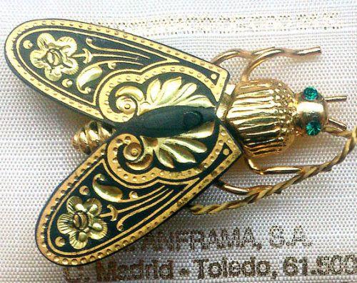 'Fly' Vintage Brooch, Toledo, Spain