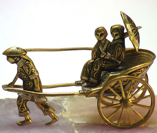 'Rickshaw' Vintage Brooch