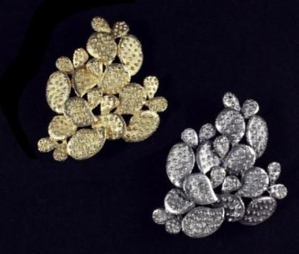 Cactus brooch. Tortolani vintage jewellery