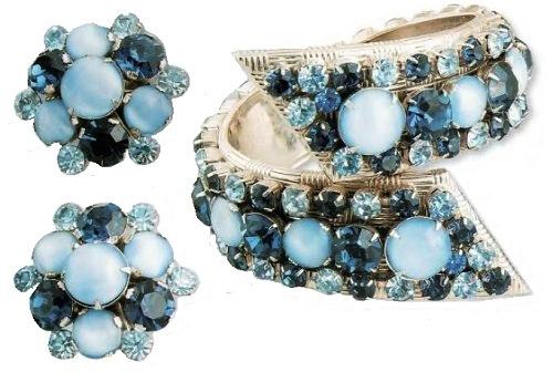 Gorgeous 1950s Vendome bracelet and earrings