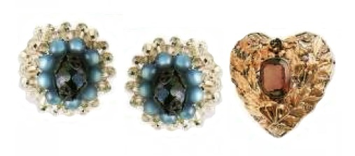 1960s Earrings £25 and 1940s brooch £250-280