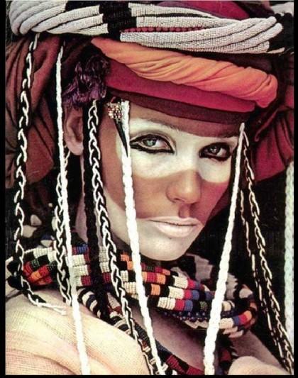 1960s iconic face Veruschka