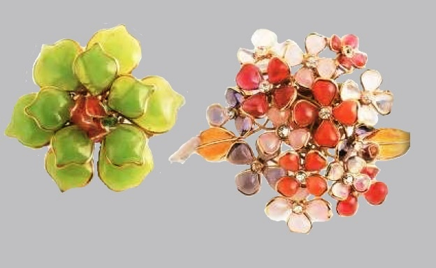 Charming brooches