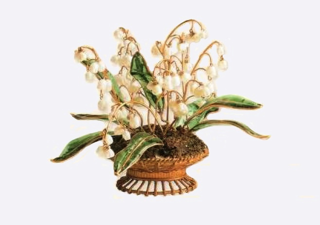 Decoration, Mason Gripua - an ancient gilded metal, a pate de Verre, an artificial pearl. 1950s, 16 cm £ 600-650 CRIS