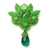 Delicate green brooch