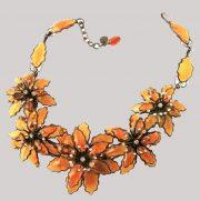 Fabulous pate de Verre necklace. 1980's. Circumference 45 cm. £ 450-500