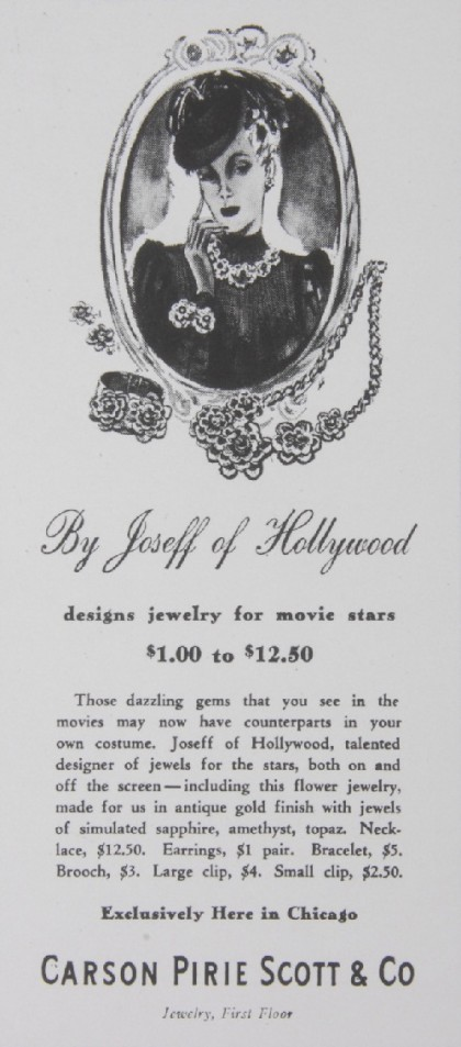 American jeweler Joseff of Hollywood