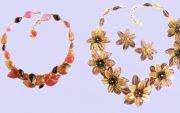 Line of Vintage Histoire De Verre necklaces. £ 180-220