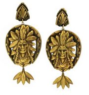 Native American Vintage Earrings, 1950s