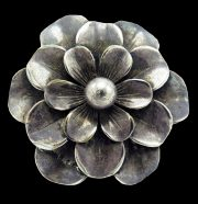 Silver Flower Brooch Pin