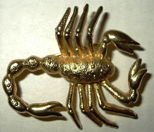 Scorpion Brooch pendant