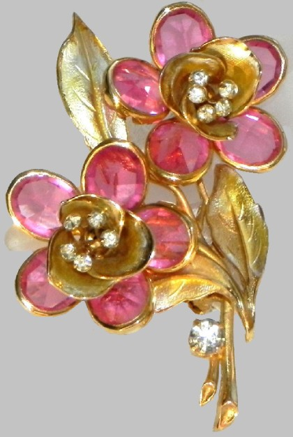 Delicate Flower brooch, 1960s