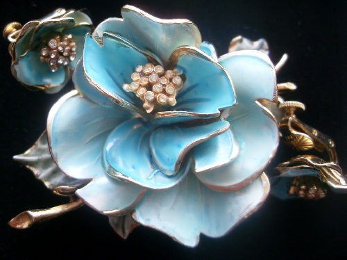 Poppies Vintage brooch and clips