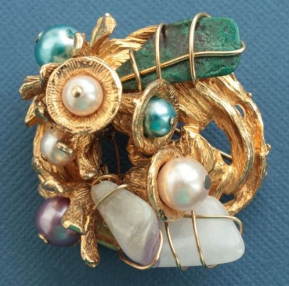 Collectible rare vintage brooch, 1960-70