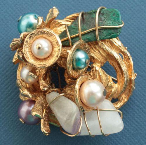 Collectible rare vintage brooch, 1960-70