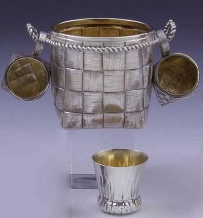 Russian Trompe l'oeil silver jewellery