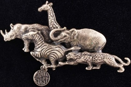 Animal Brooch Earth First
