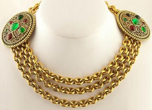 Byzantine style Coco Chanel jewellery