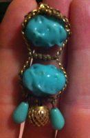 Earrings marked Sandor