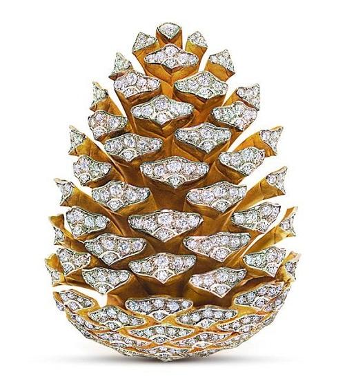 Pine-cone brooch
