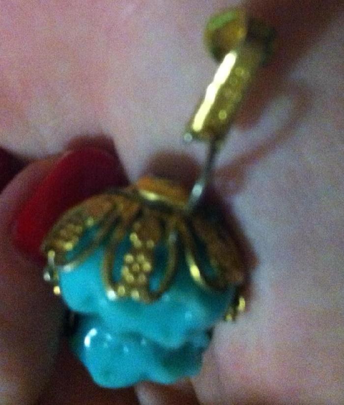 Flower earring marked Sandor
