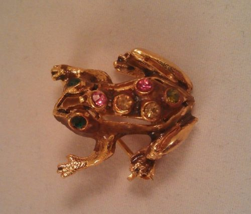 Frog brooch. 1950s. Collection of Alina, St. Petersburg
