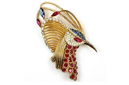 Beautiful bird brooch