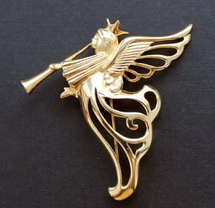 Galina Karputina collection. Givenchy vintage brooch Angel