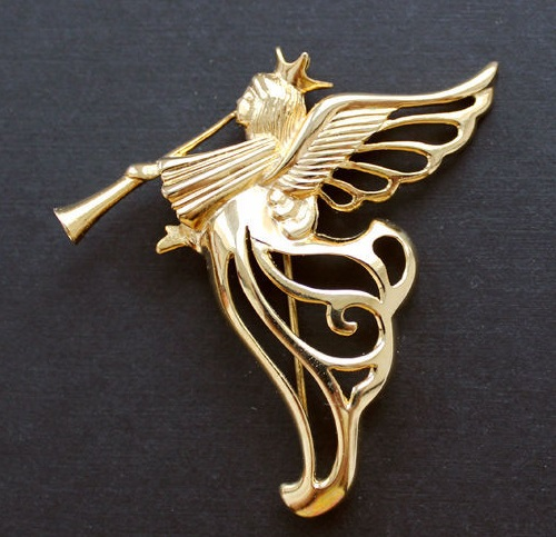 Galina Karputina collection. Givenchy vintage brooch Angel
