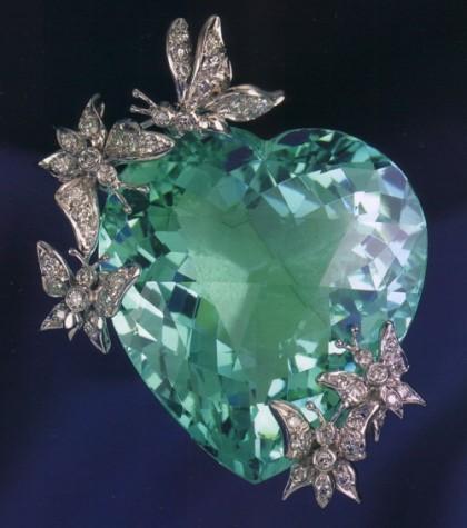 Heart brooch – pendant. Verdura high jewellery
