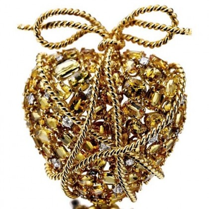 Pendant-brooch Heart