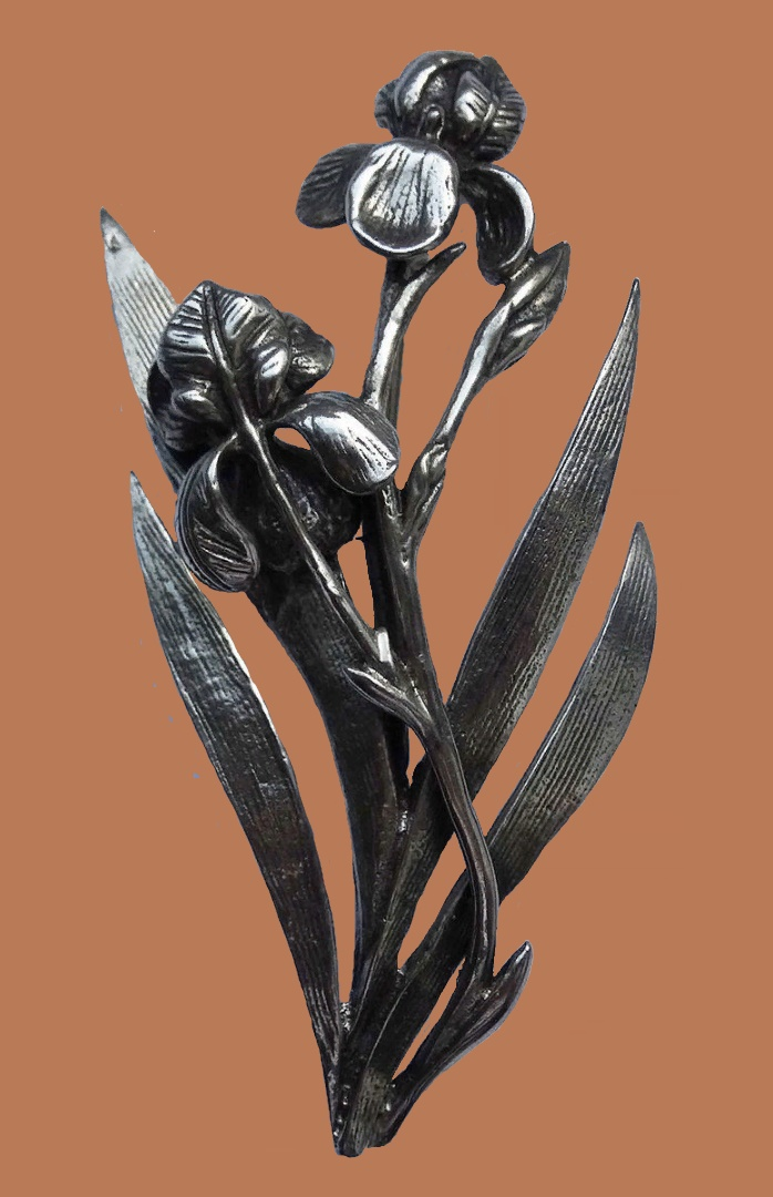 Irises brooch. 925 sterling silver
