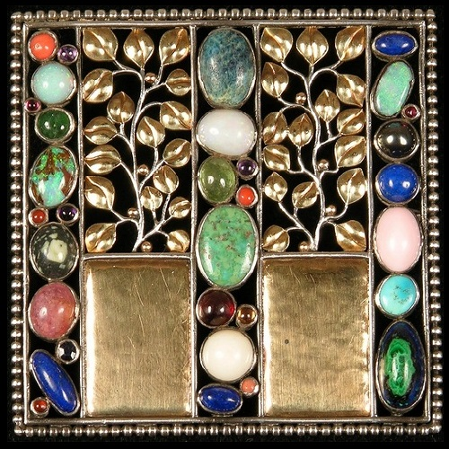 Josef Hoffmann Art Deco Brooches Kaleidoscope Effect