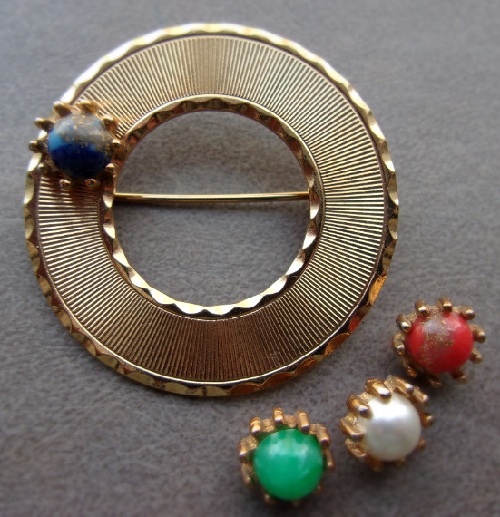 Marked Beau Jewels vintage brooch, 1950s