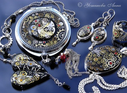 Romantic steampunk jewellery by Anna Ustinova