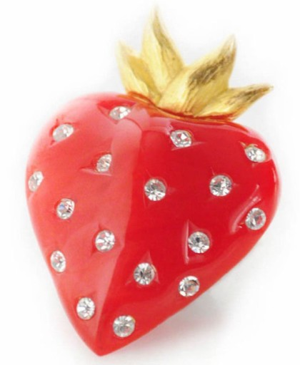 Strawberry brooch by Givenchy