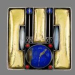 Josef Hoffmann Art Deco brooches