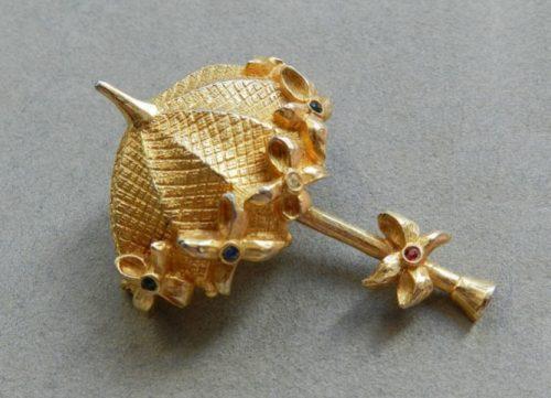 Umbrella brooch. 1960s